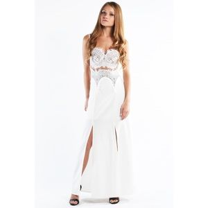 "LOWEST ""I Wonder"" Lace Double Split Maxi Dress"