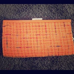 Tweed Fabric Clutch