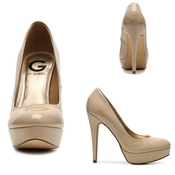 44% off Guess Shoes - 👠Guess👠 nude round/closed toe heels from ...