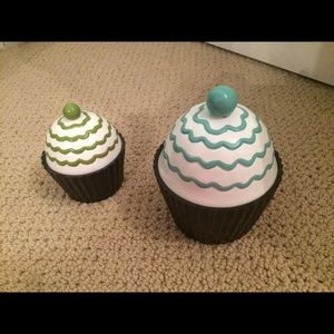 Pottery Barn cupcake storage holders