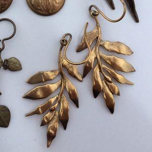 Gold Vermeil Leaves Earrings