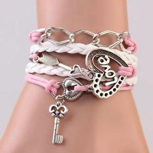 Jewelry - Infinity bracelet love key arrow heart