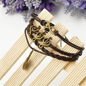 Jewelry - Infinity bracelet music note guitar