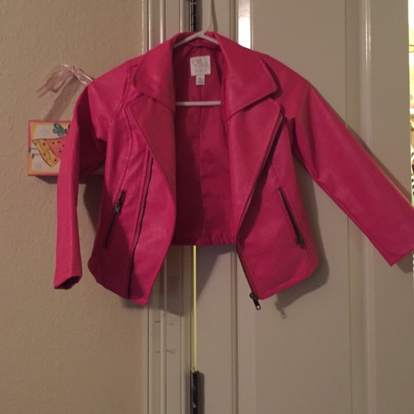 Childrens place - Little girls pink faux leather jacket from ...