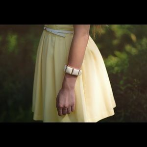 Dresses & Skirts - yellow skater dress with belt