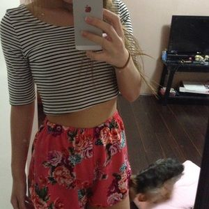 Tops - Stripe crop top
