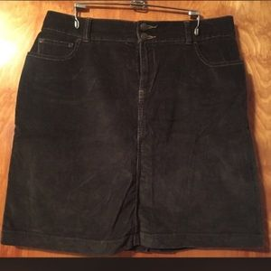Sonoma Dresses & Skirts - Sonoma Chocolate Brown Corduroy Skirt