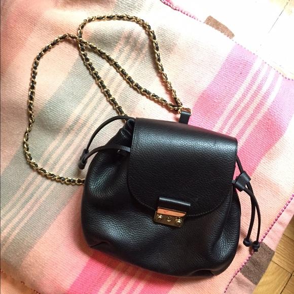 Zara Bags Black Leather Backpack Chain Straps Poshmark