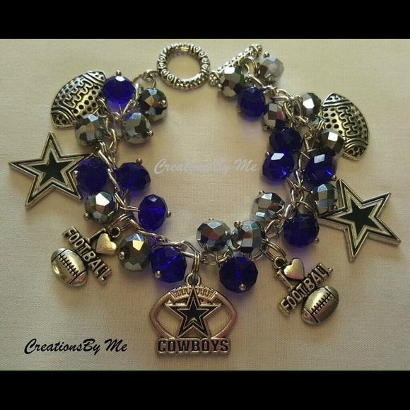 creationsby me new dallas cowboys charm bracelet from. Black Bedroom Furniture Sets. Home Design Ideas