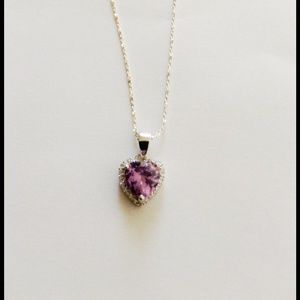 Jewelry - Sterling Silver Amethyst Heart Anklet