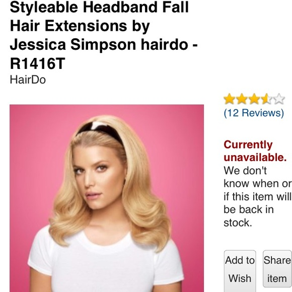 Jessican Simpson By Ken Paves Accessories 2headband Hair Ext Pony