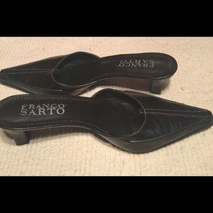 ❤️2007/July/Franco Sarto/Kitten Heel Mules/8M/Blk