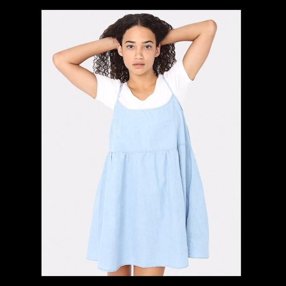 0114a53707 American Apparel Dresses   Skirts - Brand new Denim Spaghetti Strap Babydoll  Dress