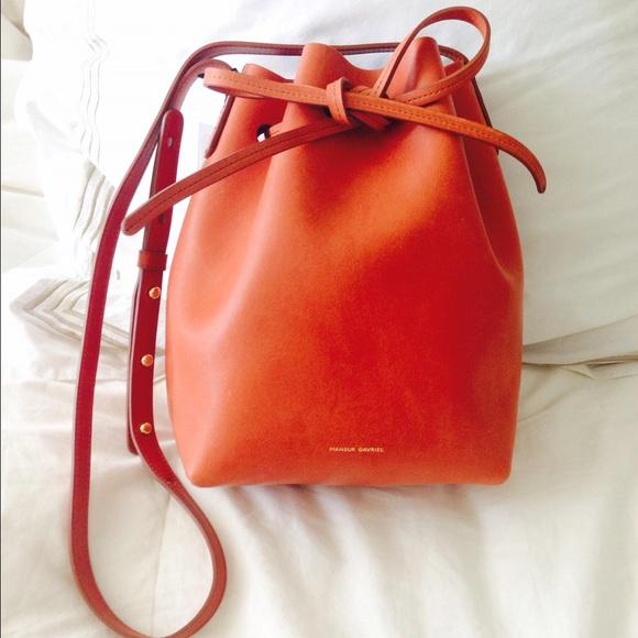 Mansur Gavriel Mini Bucket Bag Brandy Raw - NWT