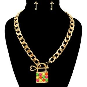 Read247 in Style Jewelry - ☆HP☆📚 Lock Pendant Necklace Set - Multi-Color