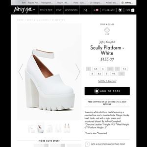 Jeffrey Campbell Shoes - White Scully Jeffrey Campbell's