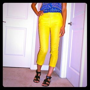 !SALE! ASOS Yellow linen Capris