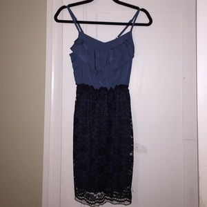 Dresses & Skirts - Lace and Ruffles Dress in Blue and Black