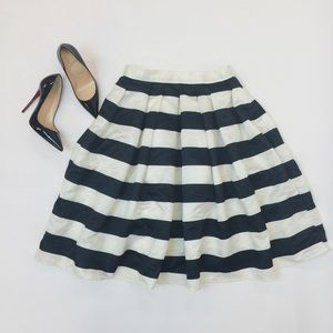 Tara Lynn's Boutique Dresses & Skirts - Black & White Striped Midi Skirt
