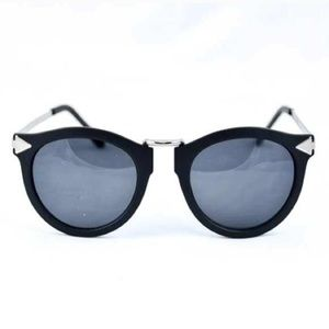 ELLA sunglasses (shiny black / nickel)