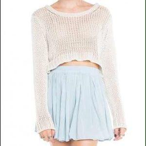 Brandy Melville light blue luma skirt