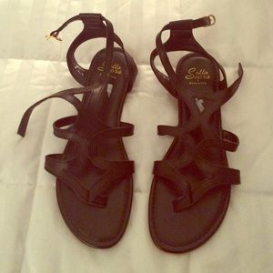 Sotto sopra Shoes - Black sandals
