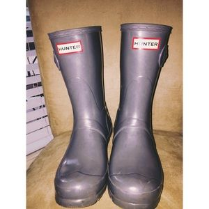Short HUNTER rain boots. Size 7
