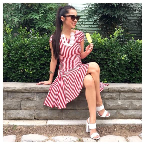 NWT Red/White Stripe Dress