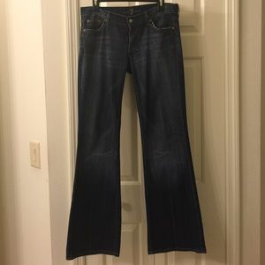 7FAM New York dark wash flare jeans