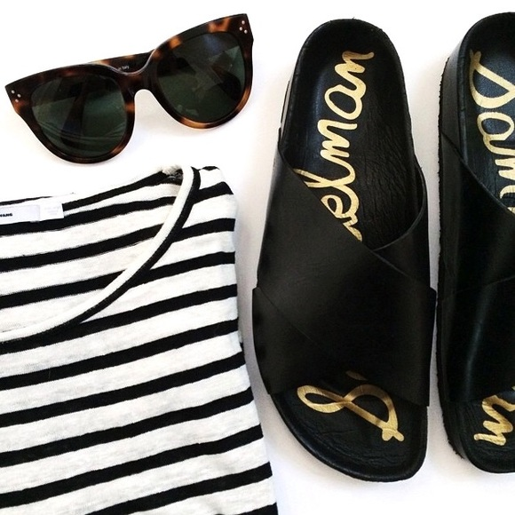 99d482164253 Sam Edelman sandals black fur edgy