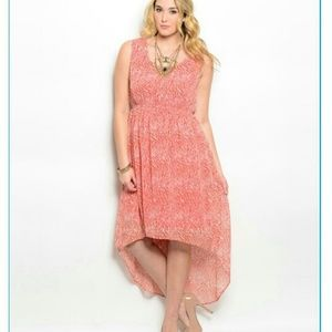 Dresses & Skirts - Red and White Maxi dress (plus size)