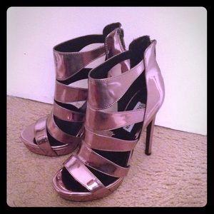 Steven Madden Metallic Gladiator High Heel Sandals