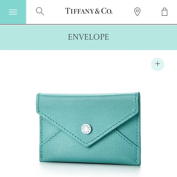 Tiffanys leather envelopebusiness card holder poshmark tiffanys leather envelopebusiness card holder reheart