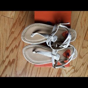Beige Rocket Dog Linen Sandals size 7.5