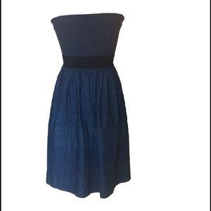 Theory Dresses & Skirts - Theory Dark Wash Denim Tube Dress