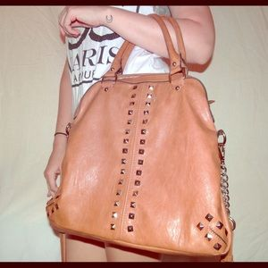 Tan leather hand bag