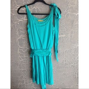 Alice & Olivia turquoise dress