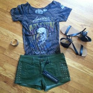 Military style Affliction Shorts