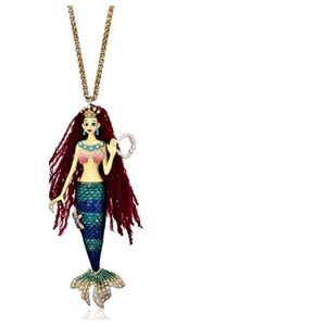 Betsey Johnson Jewelry - BROKEN Betsey Johnson Mermaid Necklace, 34""