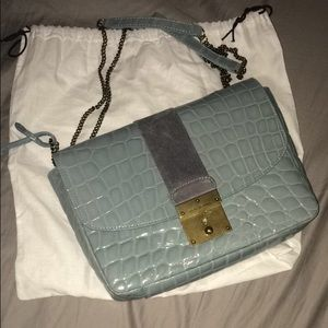 Marc Jacobs crocodile leather blue cross body bag