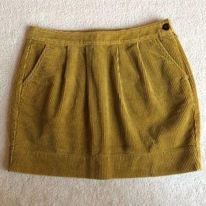 Old Navy dark khaki colored corduroy skirt