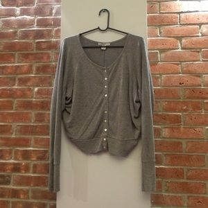 Sweaters - Grey Button Up Sweater Cardigan