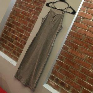 Dresses & Skirts - Grey Pinstripe Tank Maxi Dress