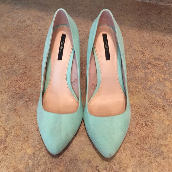 Forever 2 Mint Green Suede Pumps   Poshmark