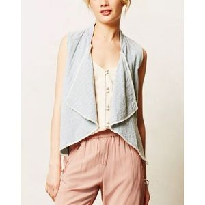 NWT Anthropologie Hei Hei Chambray Waterfall Vest