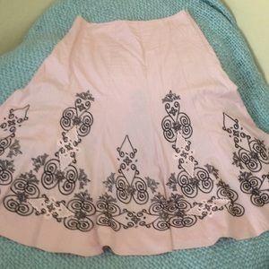 Sunny Leigh Mauve & Black Embroidered Skirt