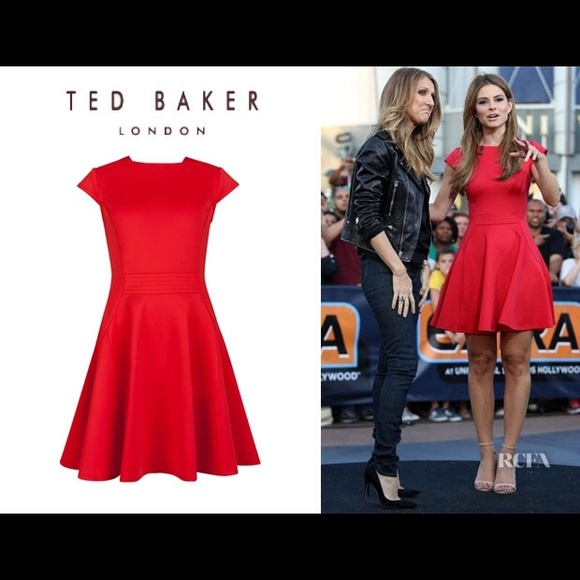 60ea1b3c50b246 Ted Baker Tezz Skater Dress RED Ted Sz 2. M 557c6161077e192a4d004801