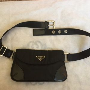 Prada black waist bag
