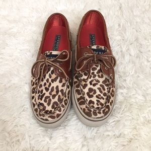 Sperry Top-Sider Shoes - casual sperrys- leopard pony
