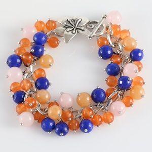 Cascade of pearls bracelet